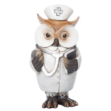 Working Owl Nurse Figurine